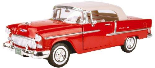 American Classics 1955Chevy Bel Air Maßstab 1: 18Premium Spritzguss Modell (rot)