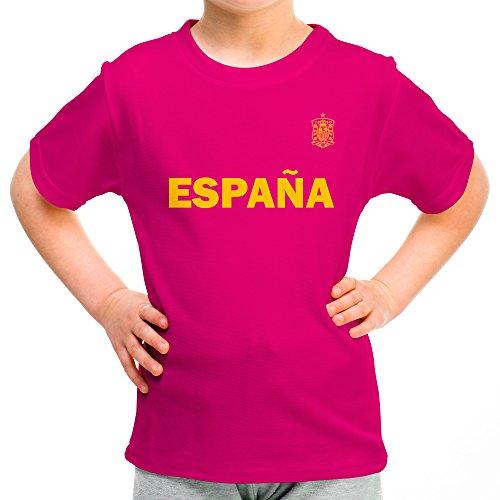 Lolapix Camiseta España Rosa Personalizada con Nombre y número. Camiseta de  algodón. Regalo para 3155f6c01017f