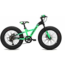 VERTEK Bici fat bike Fat Bull 24'' 7 velocità verde (Fat) / Fat bike Fat Bull 24'' 7 speed green (Fat) - 24 Bmx