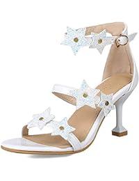 5d5f95c25 AOOEL Elegante Mujer Senoras Correa de Tobillo Medio Talon Bailando Fiesta Vestir  Sandalias Zapatos de tacon