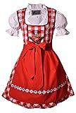 Bayer Madl Kinderdirndl Dürrwangen rot/weiß Set, Gr. 152