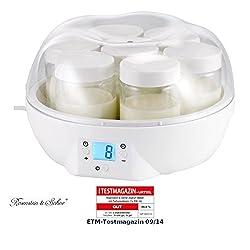 Rosenstein & Söhne Joghurt-Automaten: Joghurt-Maker mit 7 Portionsgläsern je 150 ml, 14 Watt (Joghurt-Machinen)