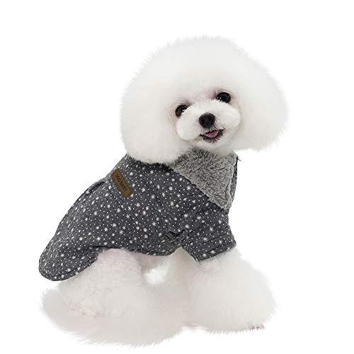 artistic9Invierno Chaqueta cálida para pequeños Perros Gatos–Navidad Copo de Nieve Pet Puppy algodón Abrigo Sudadera con Peluche Ropa