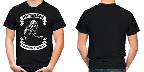 Hamburg kämpfen & siegen Männer und Herren T-Shirt | Fussball Ultras Geschenk | M2 Schwarz