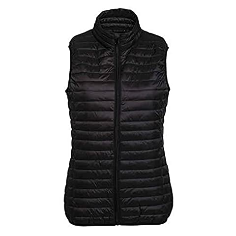 Women's Tribe Fineline Padded Gilet Full Zip Through Style 2786 (Large, Black)