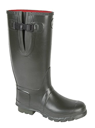 Neoprene Lined Wide Fitting Dark Olive Woodlands Green Wellies