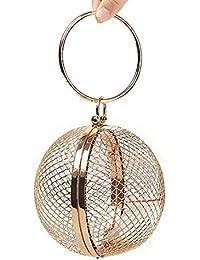 7546b32066c60 DUmulan Borsetta da donna nuova borsa da sera con sfere in metallo stile  cavità cena singola