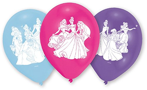 Tifany 8022871novastyl by tifany-8022871-paquet di 6palloncini principesse disney, altro matiere, rosa, 13x 2x 18cm