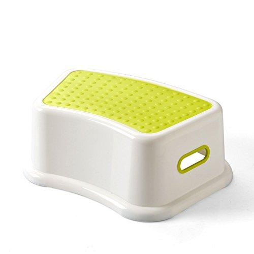LXLA- Verdicken Sie Kindereinzelschritt-Schemel-Baby-Plastiknichtbeleg-Schemel-Kinder Für Küche, Badezimmer, Toilette, Kindergarten (Farbe : Green)