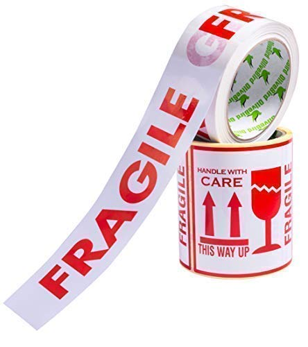Conjunto 100 etiquetas frágile calcomanías tamaño
