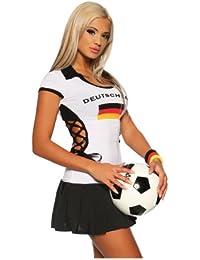 Saresia Trikot Mini-Kleid weiß/schwarz