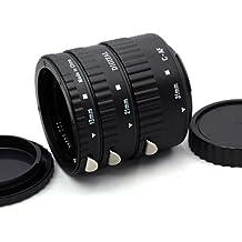Meike Tubo de extensión automático Macro para Canon - tres tubos pieza - 13mm, 21mm, 31mm para Canon EOS 1000D 1100D 600D 550D 500D 450D 400D 350D 300D 60D 50D 40D 30D 20D 10D 7D 5D 5D Mk II 1D 1Ds 1D Mk II 1Ds Mk II 1D Mk II N 1D Mk III 1Ds Mk III