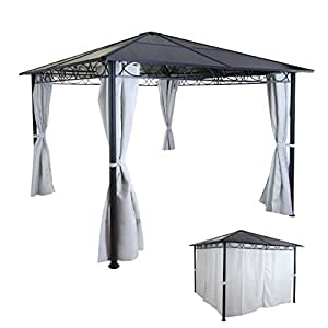 mendler hardtop pergola hwc c77 garten pavillon. Black Bedroom Furniture Sets. Home Design Ideas