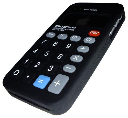 Kalkulator Xcessor Fun Line coque de protection en silicone-pour Apple iPhone 4 et 4S noir