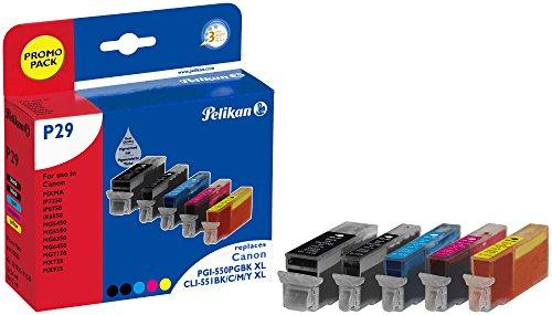 Pelikan Druckerpatronen ersetzen (Canon PGI-550PGBK XL, CLI-551BK XL, CLI-551C XL, CLI-551M XL, CLI-551Y XL)