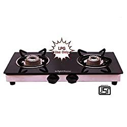 Bright Flame Brightflame 2 Burner Glass Top Compact Ss Lpg Gas Stove - Isi Approved