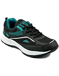 Asian Shoes Future-01 Black Firozi Men Mesh Sports Shoes
