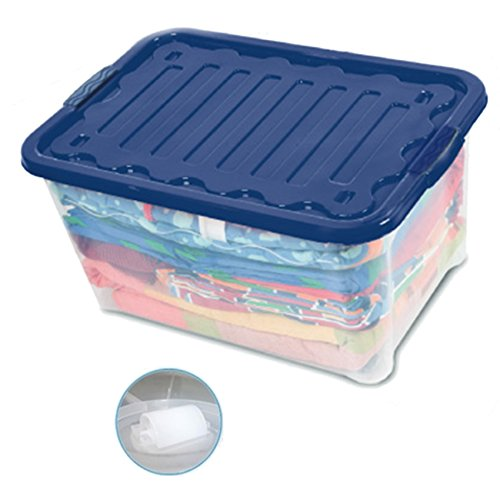 House&Style Vulcano Box Storage Extralarge, Blu, 60 x 40 x 30 cm, 12 unità