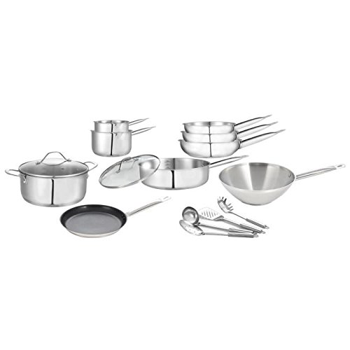 ART & CUISINE-ART&CUISINE Set de 15 pieces INOX Induction