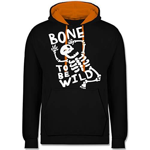Kostüm Baby Blue Big - Halloween - Bone to me Wild Halloween Kostüm - M - Schwarz/Orange - JH003 - Kontrast Hoodie