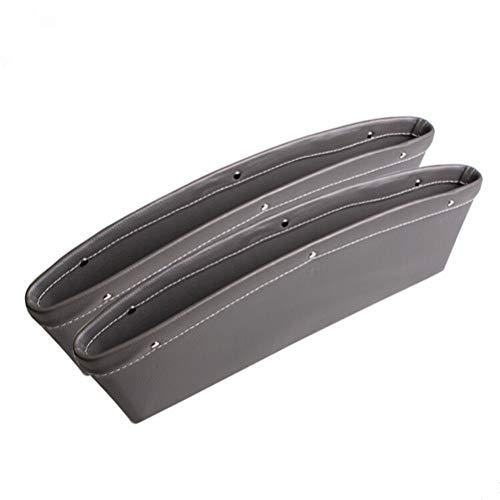 Vosarea Autositz Seitentasche Gap Pocket Box aus PU Leder für Auto Konsole (Grau) -