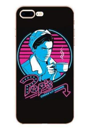 Coquefone Coque iPhone 5 / 5S / Se Riverdale Jughead Pop's chock'lit Milk Shake café Chocolat Bleu et Rose et Noire Série