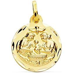 Médaille Baptême OR 18carats 16mm Médaille naissance/baptême - personnalissable