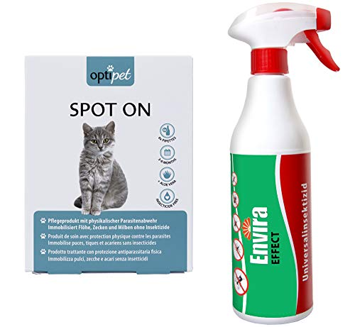 OptiPet Spot On 6x1ml Katze + ENVIRA Effect 500ml