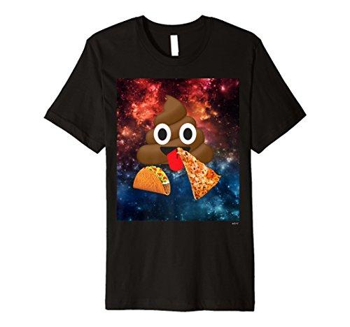 Poop Emoji-T Shirt Cosmic Pizza Platz Poop Emoji-Shirt -