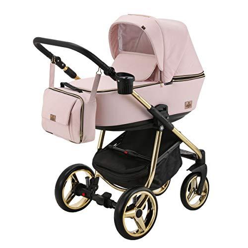 BeBe-Mobile Kinderwagen Kombikinderwagen 2in1 Kinderwagenset Babywanne Buggy Gusto Special GS813 rosa