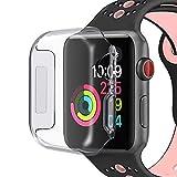 gmov Funda Apple Watch 4, 40mm Transparente, Funda Protector de Pantalla TPU SEMIDURO Delgado Protectora Carcasa para Reloj Apple Watch Series 4(no Compatible para Apple Watch Series 1/2/3)