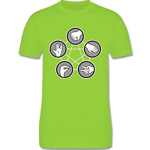 Nerds & Geeks - Rock Paper Scissors Lizard Spock - Schere Stein Papier Echse Spock - Herren Premium T-Shirt Hellgrün