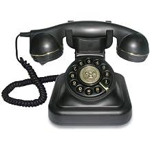 Swissvoice Vintage 20 - Teléfono analógico con cable, diseño antiguo, color negro