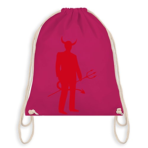 Halloween - Teufel - Turnbeutel I Gym Bag Fucsia