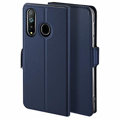 HoneyCase für Handyhülle Samsung Galaxy A8S Hülle Premium Leder Flip Schutzhülle für Samsung Galaxy A8S Tasche, Blau