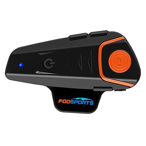Fodsports BT-S2 Intercomunicadores Moto Casco Sistemas de comunicación Auriculares Bluetooth,1000M, Utilice el Puerto más Nuevo de Tipo C