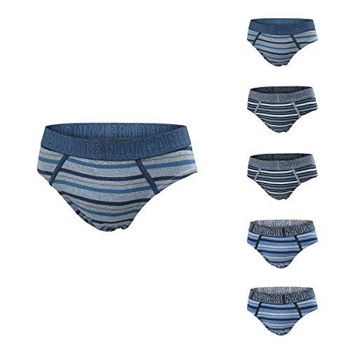 Set 6 Paia Slip / Boxer NAVIGARE Navy - Jeans - Grigio Scuro Art.666Z/667Z ( 6 Paia Slip Art.667Z - 4 / M)
