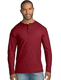 Hanes Mens X-Temp w/Fresh IQ Long Sleeve Henley T-Shirt