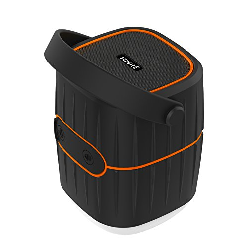 Sunvito 3 en 1 Luz de Camping 10400mAh Batería Externa con Altavoces Bluetooth V4.1, USB Recargable Tent Lámpara Impermeable para Camping al Aire Libre, Caminata, Mochila y más
