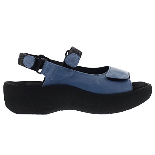 Wolky Womens 3204 Jewel Leather Sandals Bleu