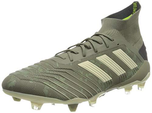 adidas Predator 19.1 FG, Zapatillas de Fútbol para Hombre, Verde (Legacy Green/Sand/Solar Yellow Legacy Green/Sand/Solar Yellow), 42 EU