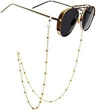 Antideslizante Retro Metal soporte para gafas, diseño de gafas de sol gafas de cuentas cadena correa para el cuello cuerda Eyewear Retenedor Soporte para las mujeres