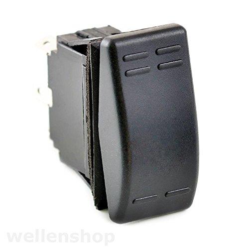wellenshop 12V Kipp- Tastschalter 2 Stufen Kombination 16A 3Pol -