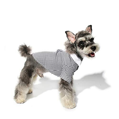 Dobbi Haustier Hunde Frühjahr Sommer Dünne Mode Karohemd Komfortabel Weich Hemd Puppy Niedlich Mäntel Welpen Einfach T-Shirt Kostüme Teddy Lässige Bluse Jacke Kleidung Sweatshirt Weste