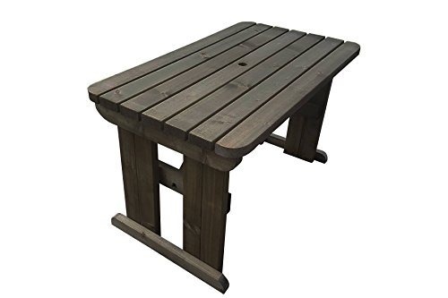 Prime Hollies Rounded Wooden Garden Dining Picnic Table Heavy Duty Handmade Outdoor Furniture In Uk Pressure Treated 4Ft Rustic Brown Ibusinesslaw Wood Chair Design Ideas Ibusinesslaworg