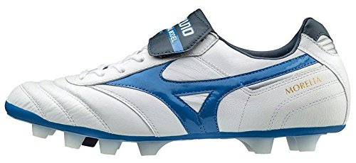 Mizuno , Chaussures de foot pour homme White/Directoire Blue