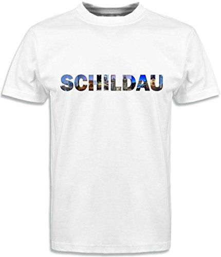 T-Shirt mit Städtenamen Schildau Weiß