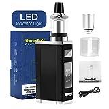 cigarrillos electrónicos, YumaPuff Zebra 80W kit de cigarrillos de vapor electrónico, mod recargable de 2200 mah, tanque de flujo de aire inferior a menos de 0,3 ohmios, sin líquido E, sin nicotina