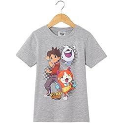 Yo Kai Watch Bambino Tshirt Fantasia, 2 10 Anni Taglia 114 Grigio