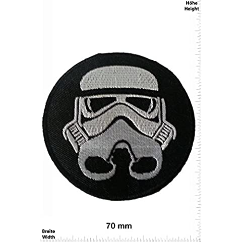 Parches - Star Wars Trooper 7 CM - Movie Game Parches - Cartoon - Comic - Chaleco - Parche Termoadhesivos Bordado Apliques - Patch - Give Away Regalar